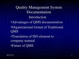Quality Management System Documentation