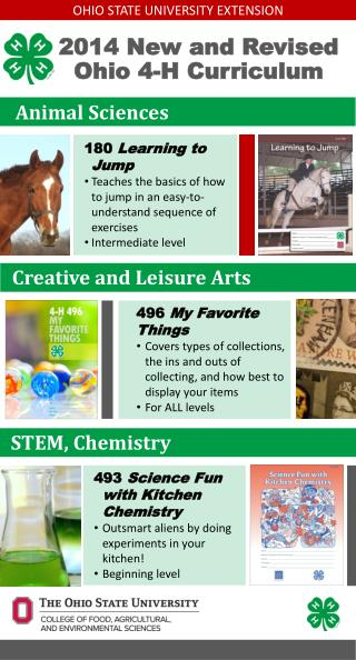 2014 New and Revised Ohio 4-H Curriculum