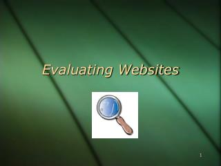 Evaluating Websites