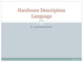 Hardware Description Language