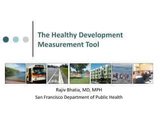 The Healthy Development Measurement Tool