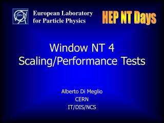 Window NT 4 Scaling/Performance Tests