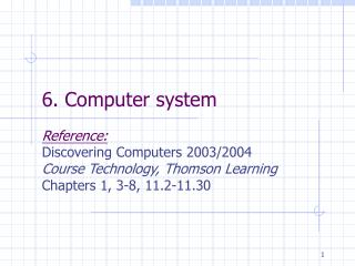 6. Computer system