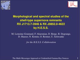 Morphological and spectral studies of the  shell-type supernova remnants