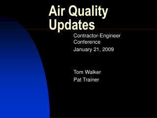 Air Quality Updates