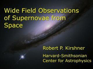 A Blunder Undone Robert P. Kirshner Harvard-Smithsonian Center for Astrophysics