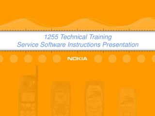 1255 Technical Training Service Software Instructions Presentation
