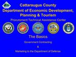 Cattaraugus County Department of Economic Development, Planning  Tourism