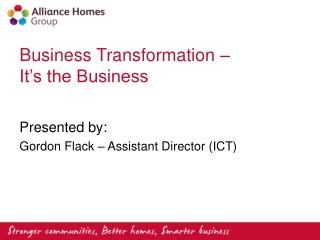 Creating a Customer Centric Enterprise