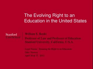 The Evolving Right to an Education in the United States