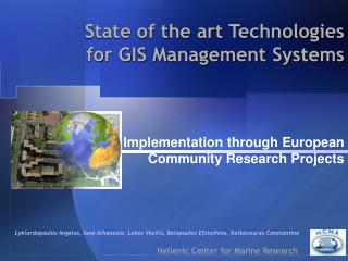 Implementation through European Community Research Projects