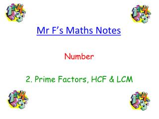 Mr F's Maths Notes