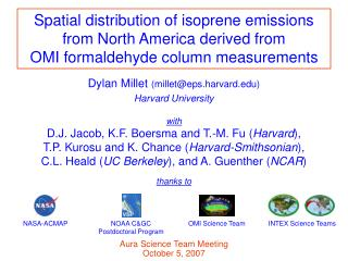 Spatial distribution of isoprene emissions from North America derived from
