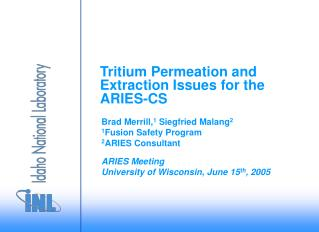 Tritium Permeation and Extraction Issues for the ARIES-CS