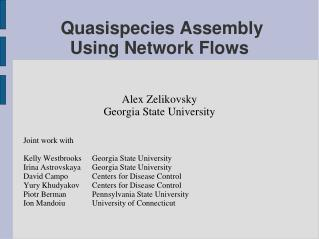 Quasispecies Assembly  Using Network Flows