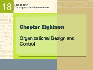 section four: The organizational environment