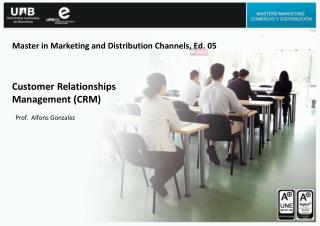 Master in Marketing and Distribution Channels, Ed. 05