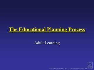 The Educational Planning Process