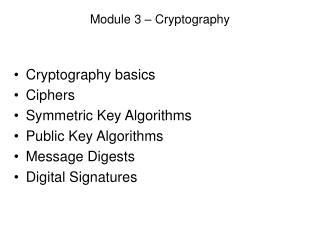 Module 3 – Cryptography