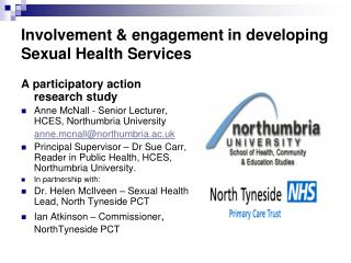 Involvement & engagement in developing Sexual Health Services