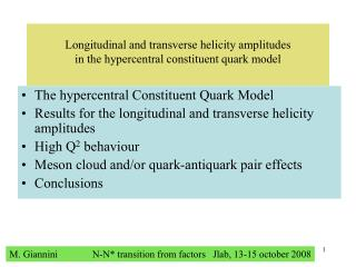 Longitudinal and transverse helicity amplitudes  in the hypercentral constituent quark model