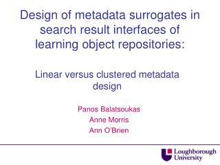 Design of metadata surrogates in search result interfaces of learning object repositories: