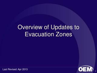 Overview of Updates to Evacuation Zones