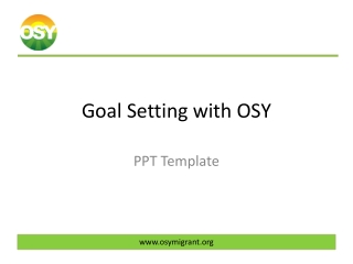 Goal Setting with OSY