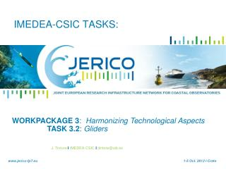 IMEDEA-CSIC TASKS: