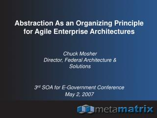 Abstraction As an Organizing Principle for Agile Enterprise Architectures