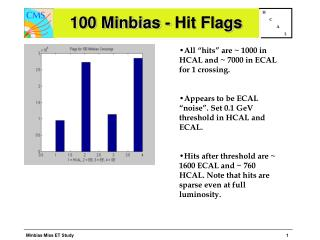 100 Minbias - Hit Flags