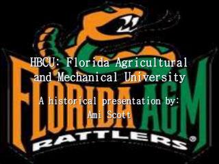 HBCU: Florida Agricultural and Mechanical University
