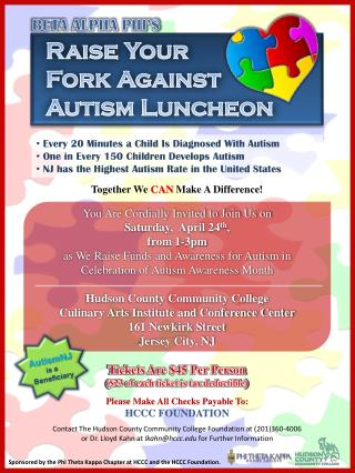 Raise Your  Fork Against  Autism Luncheon