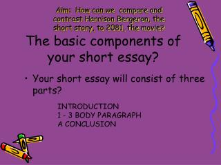 The basic components of your short essay?