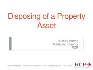 Disposing of a Property Asset