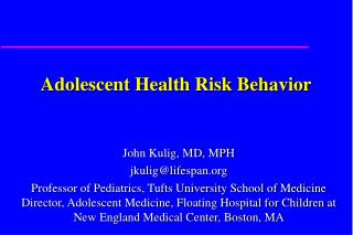 Adolescent Health Risk Behavior