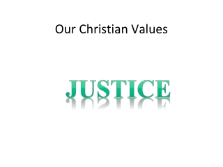 Our Christian Values
