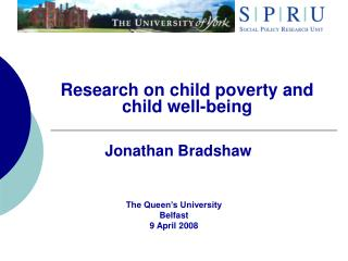 Research on child poverty and child well-being