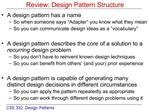 Review: Design Pattern Structure