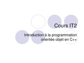 Cours IT2