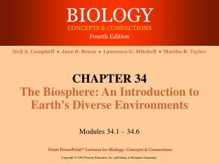 CHAPTER 34 The Biosphere: An Introduction to Earth's Diverse Environments