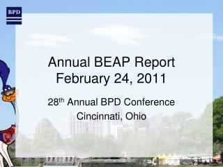 Annual BEAP Report February 24, 2011