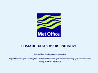 CLIMATIC DATA SUPPORT INITIATIVE