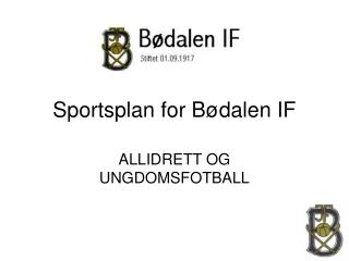 Sportsplan for Bødalen IF