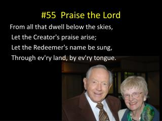 #55  Praise the Lord