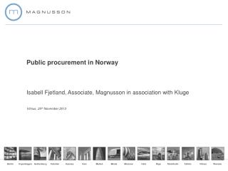 Public procurement in Norway