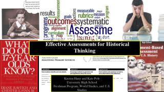 How Do I Know If They Really Get It? Effective Assessments for Historical Thinking