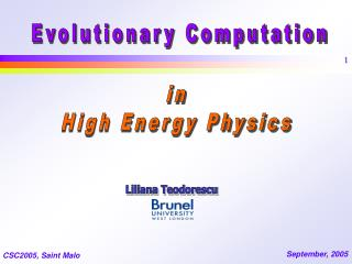 in High Energy Physics