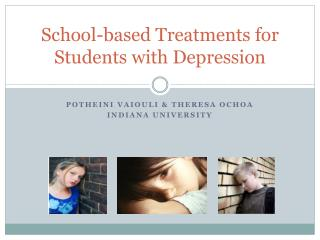 School-based Treatments for Students with Depression