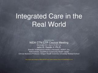 Integrated Care in the Real World